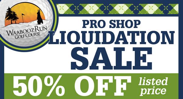 Waabooz Run Pro Shop Liquidation Sale